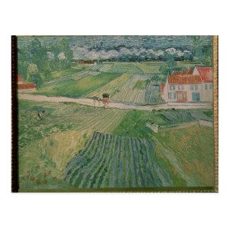 Vincent van Gogh   Landscape at Auvers Postcard
