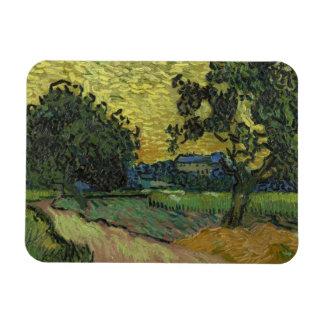 Vincent van Gogh - Landscape at Twilight Rectangular Photo Magnet
