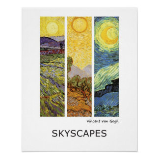 Vincent van Gogh Landscapes Poster