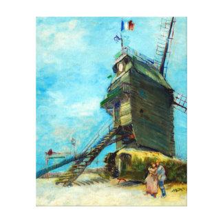 Vincent van Gogh Le Moulin de la Galette Canvas Print