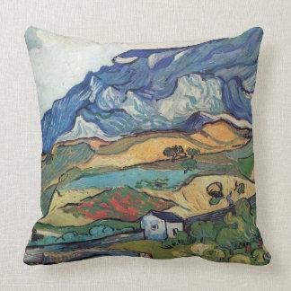 Vincent van Gogh-Les Alpilles Throw Pillow