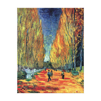 Vincent Van Gogh - Les Alyscamps Canvas Print