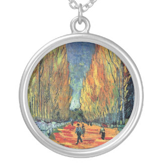 Vincent Van Gogh - Les Alyscamps Silver Plated Necklace
