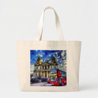Vincent Van Gogh London Large Tote Bag