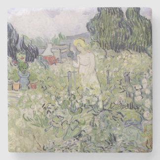 Vincent van Gogh | Mademoiselle Gachet in garden Stone Coaster