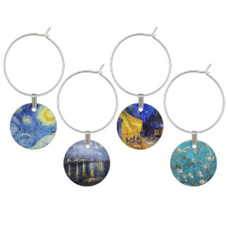 Vincent van Gogh Masterpiece Paintings Wine Charms