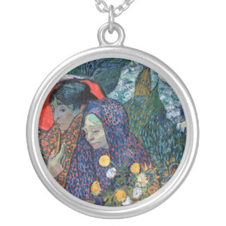Vincent Van Gogh - Memory Of The Garden At Etten Silver Plated Necklace