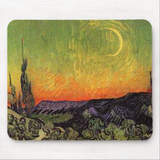 Vincent Van Gogh Moonlit Landscape Mouse Pad