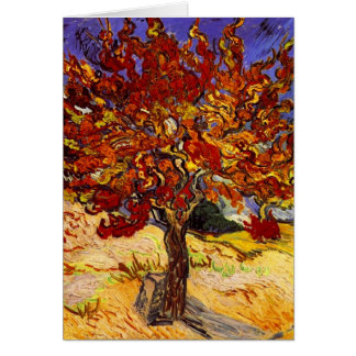 Vincent Van Gogh Mulberry Tree Fine Art Painting Note Card