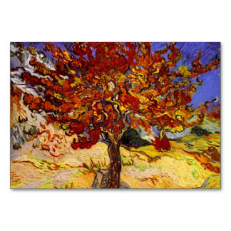 Vincent Van Gogh Mulberry Tree Fine Art Painting Table Cards