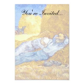 "Vincent Van Gogh - Noon Rest From Work - Fine Art 5"" X 7"" Invitation Card"
