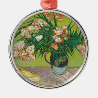 Vincent Van Gogh Oleanders Silver-Colored Round Ornament