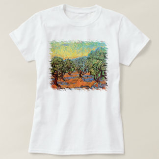 Vincent Van Gogh - Olive Grove with Orange Sky T-Shirt