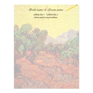 Vincent van Gogh Olive Trees Letterhead Design