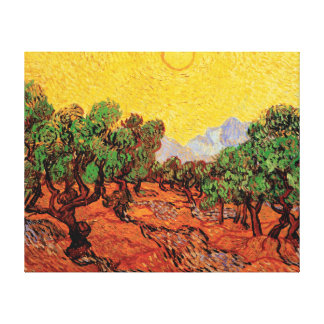 Vincent Van Gogh - Olive Trees With Yellow Sky Canvas Print