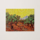 Vincent Van Gogh - Olive Trees With Yellow Sky Jigsaw Puzzle