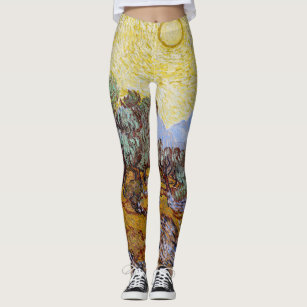 Starry Sky Leggings Van Gogh Painted Leggings Starry Night Tights Art Fashion Colorful Tights Van Gogh Design Famous Painting