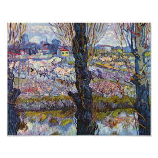 Vincent Van Gogh – Orchard In Bloom With Poplars Poster