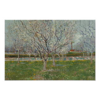 Vincent van Gogh - Orchard in Blossom Poster