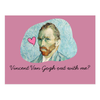 Vincent Van Gogh out with me card Postcard