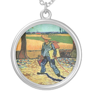 Vincent Van Gogh - Painter On His Way To Work Silver Plated Necklace