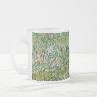 Vincent van Gogh, Patch of grass  Colorful Frosted Glass Mug