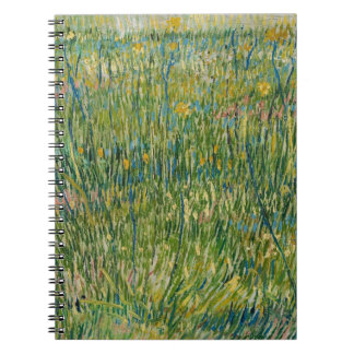 Vincent van Gogh, Patch of grass  Colorful Spiral Note Book