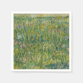Vincent van Gogh, Patch of grass Colourful Disposable Napkins