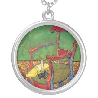 Vincent Van Gogh - Paul Gauguin's Armchair Silver Plated Necklace
