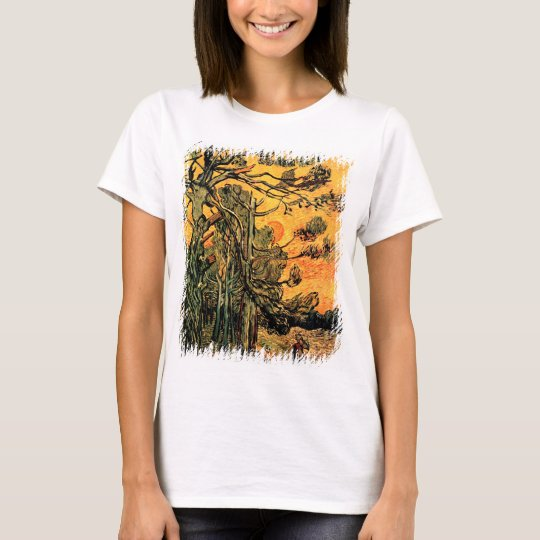 Vincent Van Gogh - Pine Trees Against A Red Sky T-Shirt