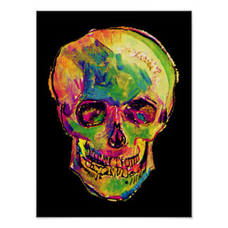 Vincent Van Gogh - Pop Art Halloween Skull Poster