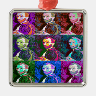 Vincent van Gogh Pop Art Metal Ornament
