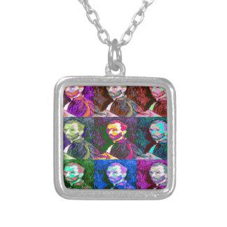 Vincent van Gogh Pop Art Silver Plated Necklace