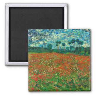 Vincent Van Gogh Poppy Field Floral Vintage Art Magnet