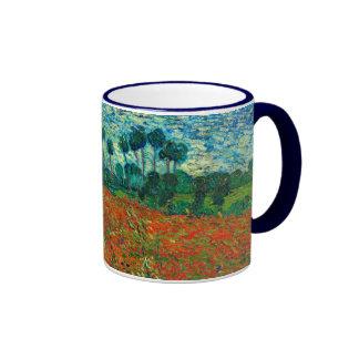 Vincent Van Gogh Poppy Field Floral Vintage Art Ringer Mug