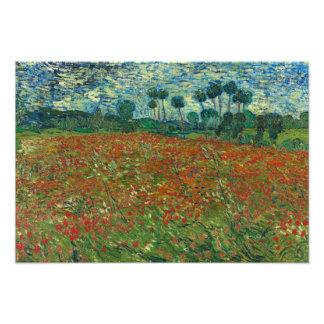 Vincent van Gogh - Poppy Field Photo Art