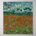 Vincent van Gogh - Poppy field Poster