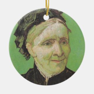 Vincent Van Gogh Portrait of Artist's Mother Art Ceramic Ornament