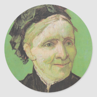 Vincent Van Gogh Portrait of Artist's Mother Art Classic Round Sticker