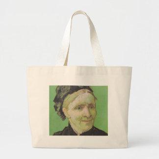 Vincent Van Gogh Portrait of Artist's Mother Art Large Tote Bag