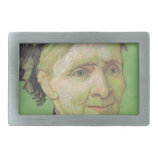 Vincent Van Gogh Portrait of Artist's Mother Art Rectangular Belt Buckles