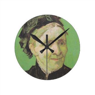Vincent Van Gogh Portrait of Artist's Mother Art Round Clock