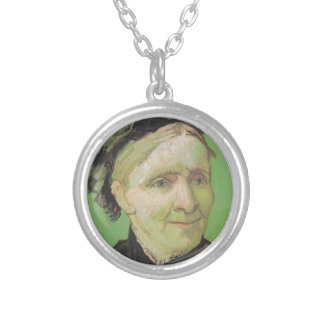 Vincent Van Gogh Portrait of Artist's Mother Art Silver Plated Necklace