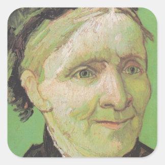 Vincent Van Gogh Portrait of Artist's Mother Art Square Sticker