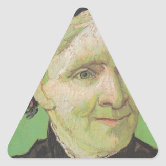 Vincent Van Gogh Portrait of Artist's Mother Art Triangle Sticker