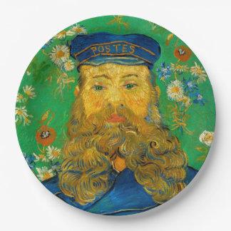 Vincent van Gogh - Portrait of Joseph Roulin 9 Inch Paper Plate