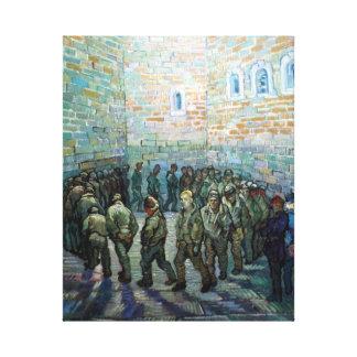 Vincent van Gogh Prisoners Exercising (after Doré) Canvas Print