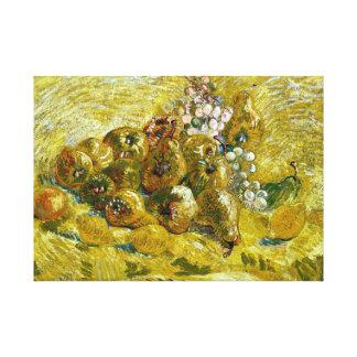 Vincent van Gogh Quinces, Lemons, Pears and Grapes Canvas Print