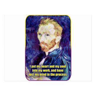 Vincent van Gogh - Quote Postcard