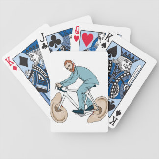 Vincent Van Gogh Riding Bike With Severed Left Ear Bicycle Playing Cards
